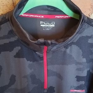 Polo Sport quarter zip pull over size large New!